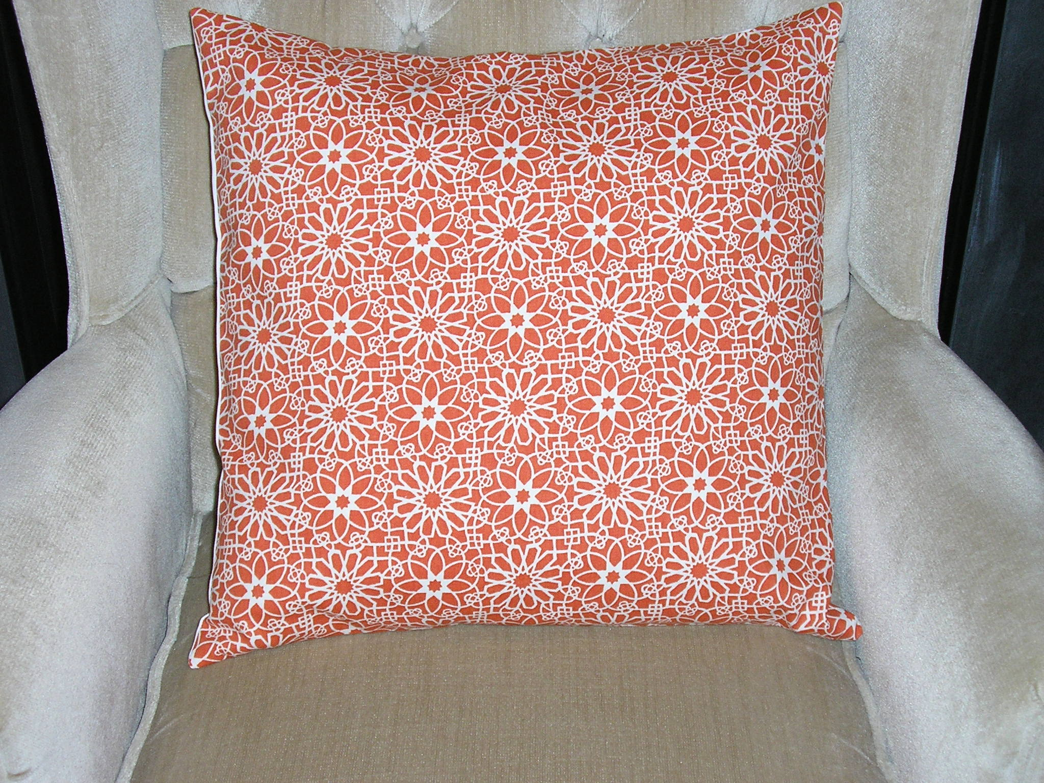 Decorative Accent Pillow Cover - 20 X 20 - Tangerine Orange ...